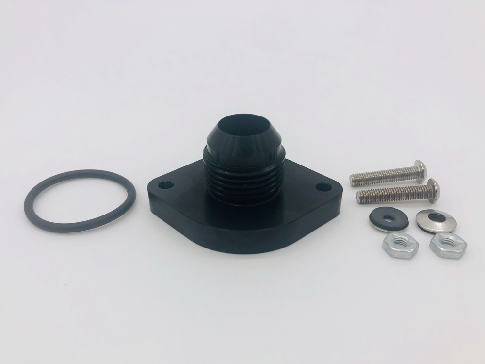 Bolt On AN Fitting Black with parts