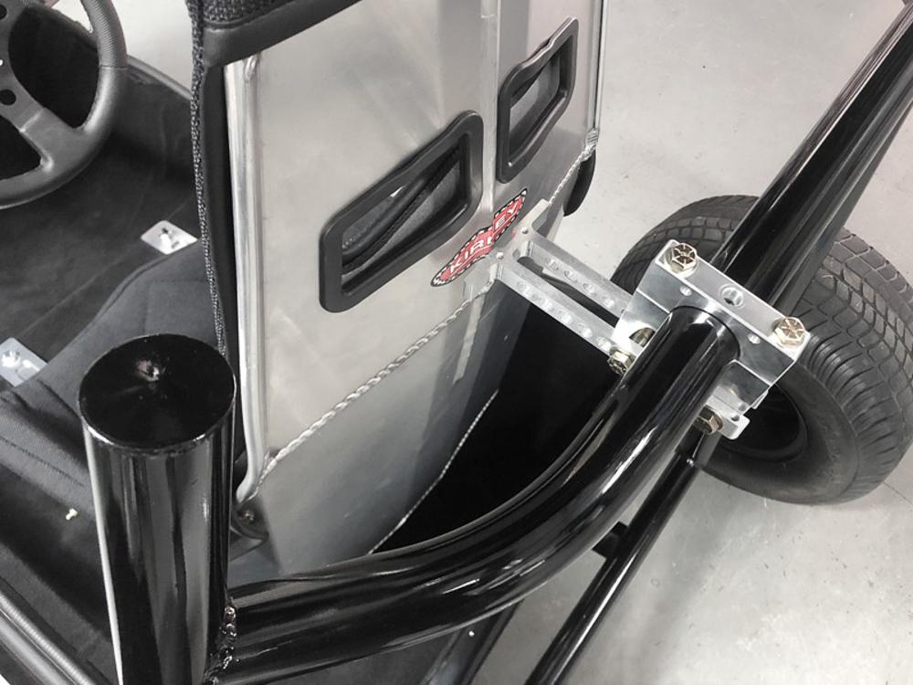 Billet Upper Adjustable Seat Mount installed