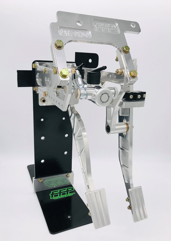 Pedal Assembly with Brake & Throttle machine finish pedal option