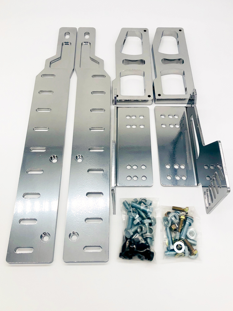 Adjustable Lower Seat Mount 79-04 Mustang chrome